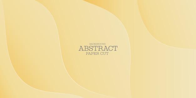 Moderne forme ondulate sfondo astratto carta tagliata stile