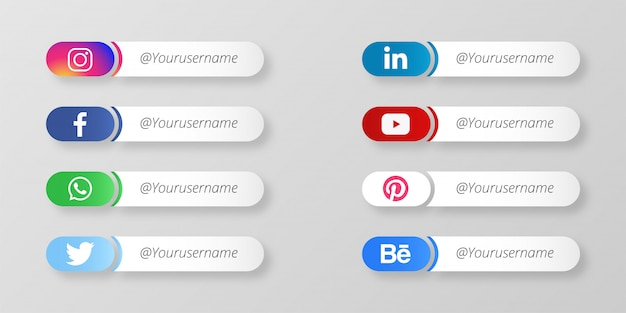 Moderni social media terzo inferiore
