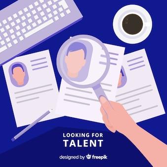 Moderno alla ricerca di composizione di talenti