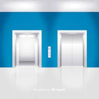 Moderno ascensore dal design realistico