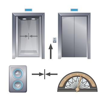 Moderno ascensore in metallo