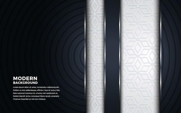 Moderno astratto sfondo scuro 3d con bianco strutturato.