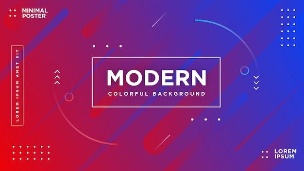 Moderno astratto vibrante memphis stile di sfondo