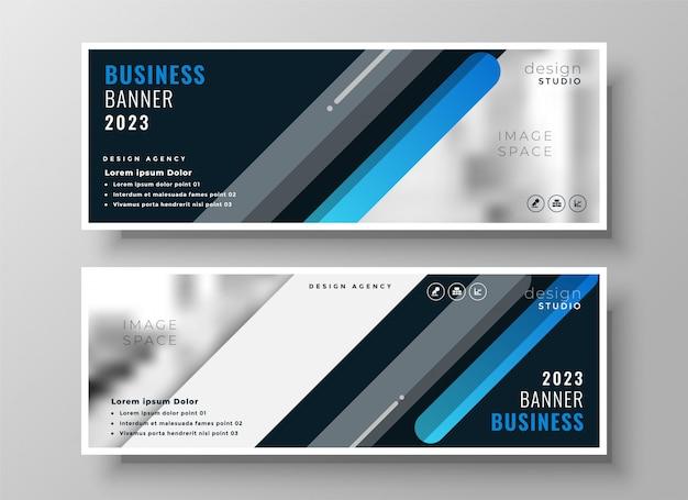 Moderno banner di presentazione blu