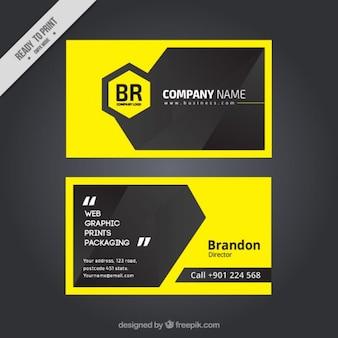 Moderno business cartellino giallo