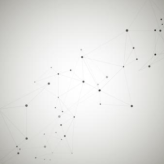 Moderno con elementi di connessione di legami molecolari