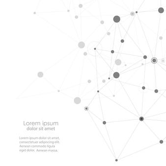 Moderno con elementi di legami molecolari