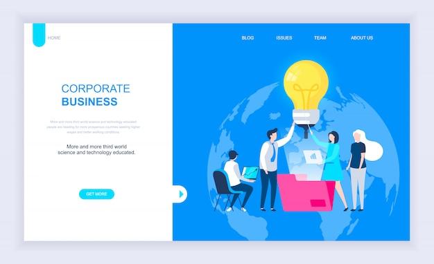 Moderno concetto di design piatto di corporate business