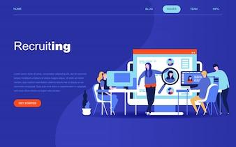Moderno concetto di design piatto di reclutamento di imprese
