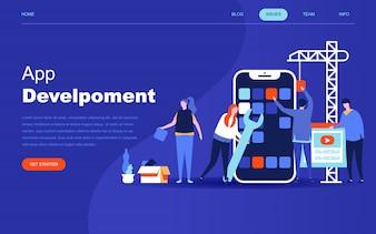 Moderno concetto di design piatto di sviluppo app