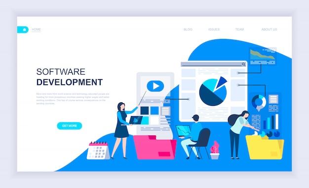 Moderno concetto di design piatto di sviluppo software