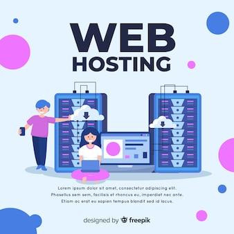 Moderno concetto di hosting web