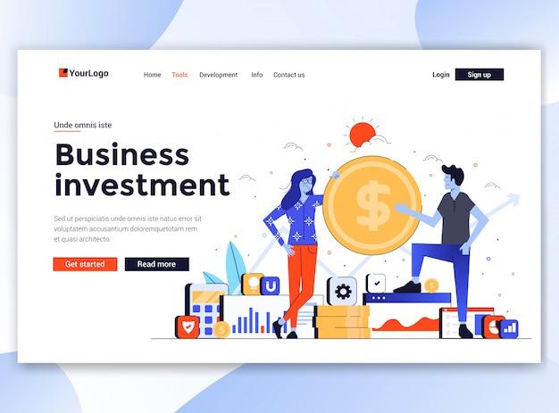 Moderno del modello di sito web - investimenti aziendali