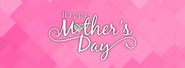 Moderno design di banner rosa elegante festa della mamma