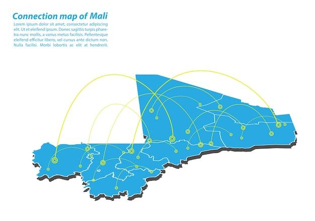 Moderno di mali mappa connessioni di rete design