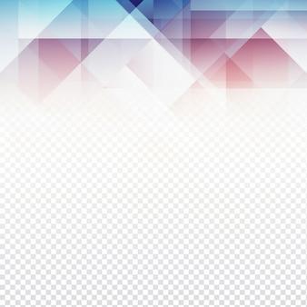 Moderno disegno poligonale su sfondo trasparente
