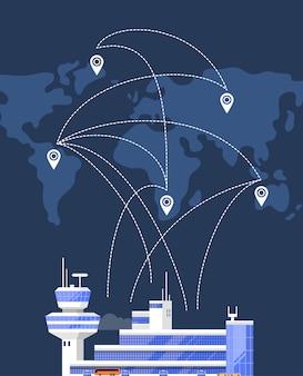 Moderno edificio aeroportuale passeggeri internazionale
