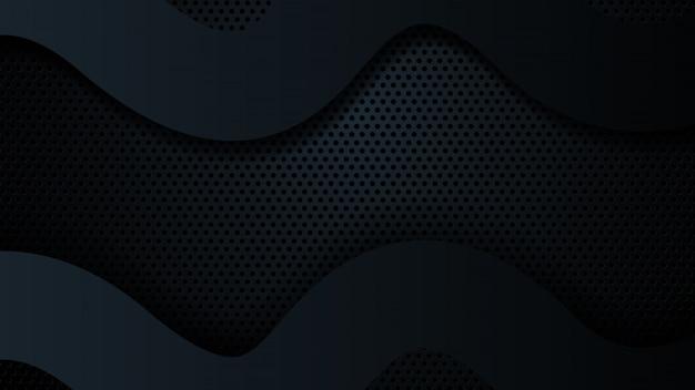 Moderno geometrico astratto di dimensione di sovrapposizione del fondo nero.