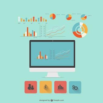 Moderno infografica design piatto