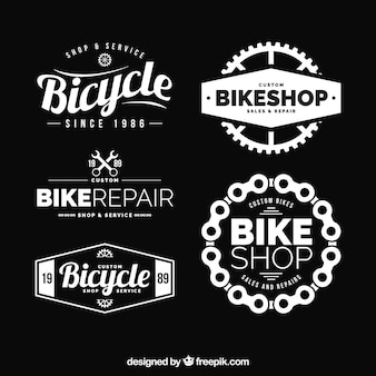 Moderno insieme di loghi eleganti della bici