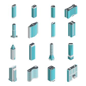 Moderno molti edifici e grattacieli