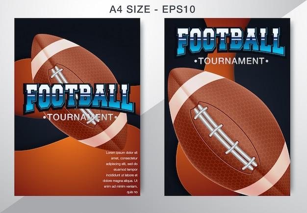 Moderno poster professionale football americano e gioco di rugby