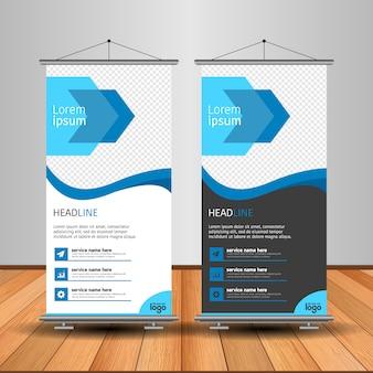 Moderno rimboccarsi banner con forma astratta