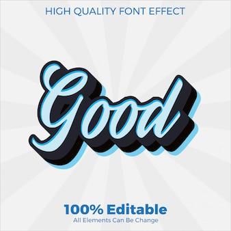 Moderno semplice script bianco con accento blu stile del testo modificabile effetto carattere