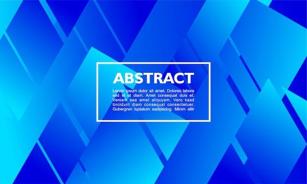 Moderno sfondo astratto con forma di rettangolo sovrapposto su colori blu