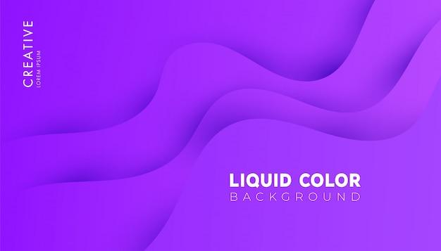 Moderno sfondo colorato onde di gradiente liquide di plastica