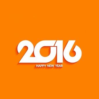 Moderno sfondo del nuovo anno sul colore arancio