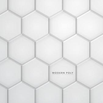 Moderno sfondo di esagono poliedrico