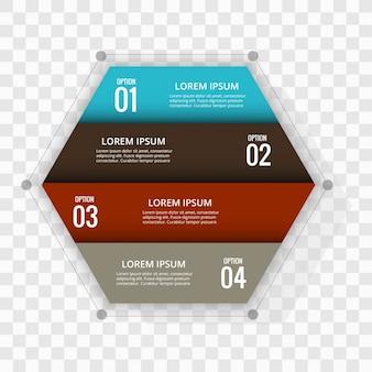 Moderno sfondo infografico di 4 passi