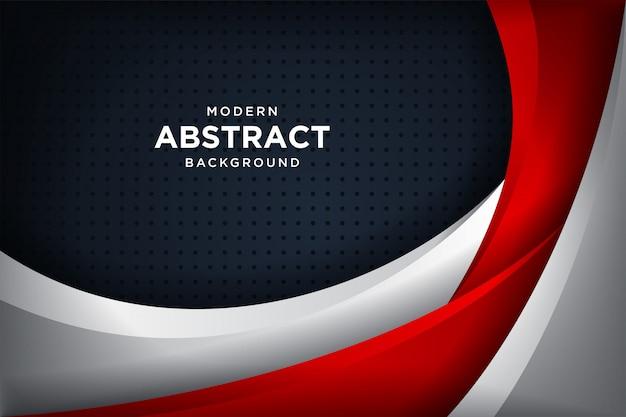Moderno sfondo nero con effetti di sovrapposizione 3d