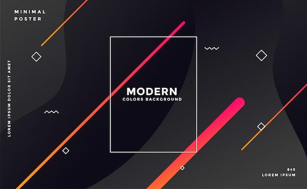 Moderno sfondo nero stile memphis scuro
