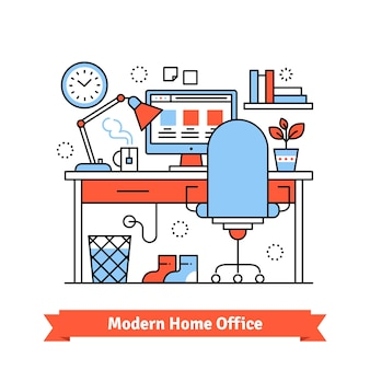 Moderno ufficio domestico