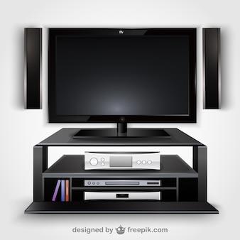 Moderno vettore televisione