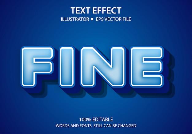 Modificabile stile testo effetto moderna fine