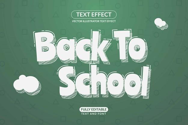 Modificabile torna a scuola effetto di testo stile