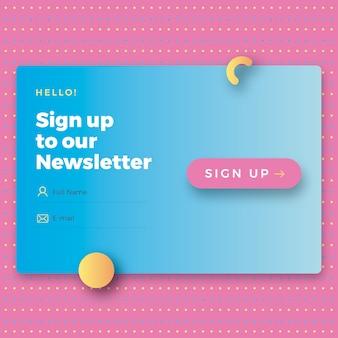 Modulo newsletter di moda