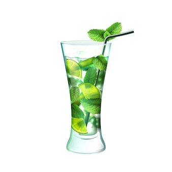 Mojito cocktail realistico