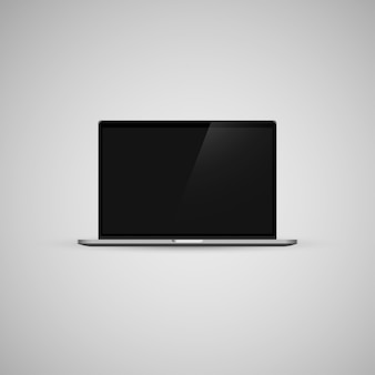 Mokcup di vettore del taccuino di macbook