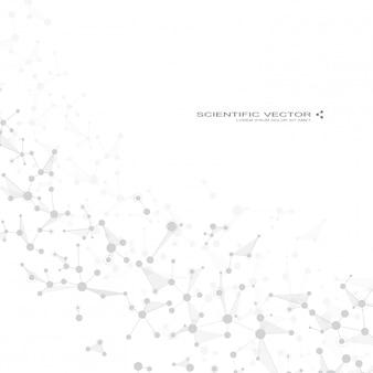 Molecola dna e neuroni sullo sfondo
