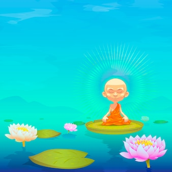 Monaco che medita