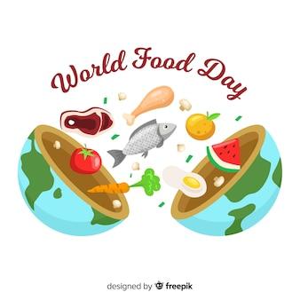 Mondo alimentare disegnato a mano da