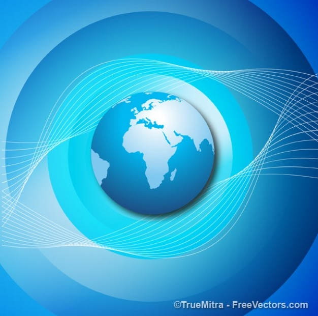 Mondo blu business astratto vettore