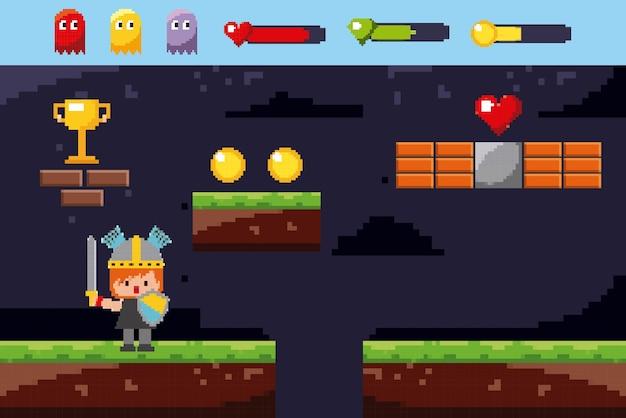 Mondo dei giochi pixel