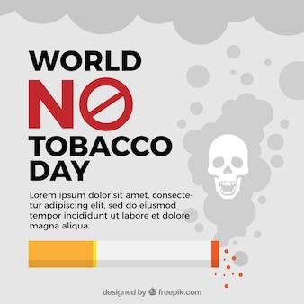 Mondo nessun modello di sfondo del tabacco di tabacco
