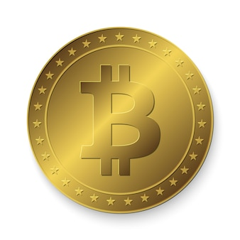 Moneta bitcoin dorata