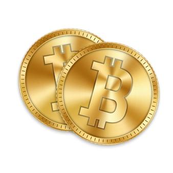 Moneta d'oro bitcoin, valuta, criptovaluta.